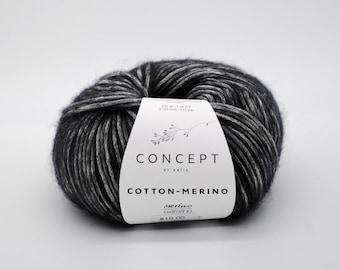 Concept by Katia - Cotton-Merino - Extra fine Merino - Aran weight yarn - Choose Your Color