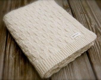 Basketweave Blanket Knitting Pattern by Big Bad Wool - PDF Download
