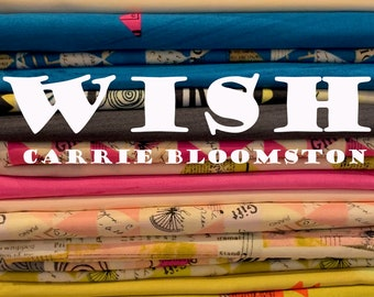 Wish by Carrie Bloomston for Windham Fabrics - Fat Quarter Bundle - 27  prints - Cotton Quilt Fabric