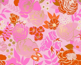 SALE Rise by Melody Miller of Ruby Star Society for Moda - Grow - Peony - RS0012 12M - Select a Size - Cotton Quilt Fabric K