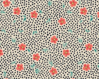 Indie Folk by Pat Bravo for Art Gallery Fabrics - Mist Flora - Luminous - IFL-46305 - Quilt Fabric - Fat Quarter - Cotton Quilt Fabric