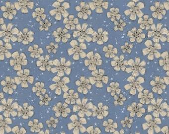 Spirit of Halloween by Cori Dantini for Free Spirit - Nocturnal Bloom - Blue - PWCD004.XBLUE - 100% Cotton Quilt Fabric - FQ BTHY Yard 921