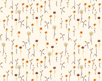 Pre-Order - Far Far Away 3 by Heather Ross for Windham - Wildflowers - Cream - 52757-5 - Select a Size - Cotton Quilt Fabric