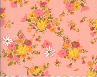SALE Blooming Bunch by Maureen McCormick - Bundle - Bubblegum 40042 12 Select a Size- FQ - half or full yard- Moda Cotton Quilt Fabric