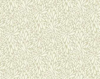 SALE Solstice by Sally Kelly - Ecru Cream Ivory Leafy  - 51934 4 - FQ Fat Quarter BTHY Yard - Windham Cotton Quilt Fabric 1021