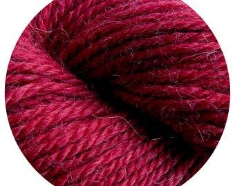 red bird weepaca by Big Bad Wool - light worsted yarn - 50% fine washable merino and baby alpaca - 95 yards