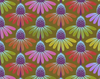 Hindsight by Anna Maria Horner for Free Spirit Fabrics - Echinacea Glow - Autumn - FQ BTHY Yard - Cotton Quilt Fabric 9-21