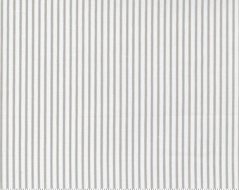 Yuletide Stripe - Christmas Morning by Lella Boutique for Moda Fabric - Dove Grey - 5148 14 - BTHY Yard - Cotton Quilt Fabric