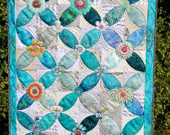 SALE Collage a-Peel Table Topper or Wall Hanging Pattern by Leslie McNeil of MarveLes Art Studios - Print Pattern