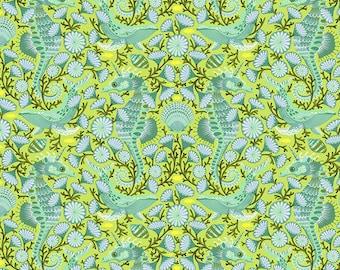 Zuma by Tula Pink for Free Spirit - Sea Stallion - Seaglass - 1/2 Yard Cotton Quilt Fabric 8-21