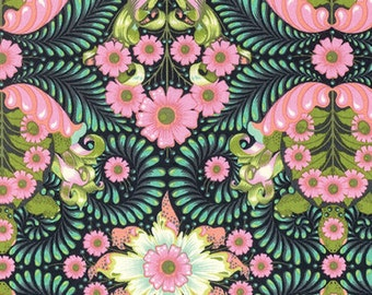 Slow & Steady by Tula Pink for Free Spirit - The Tortoise - Strawberry Kiwi - Cotton Quilt Fabric 8-21