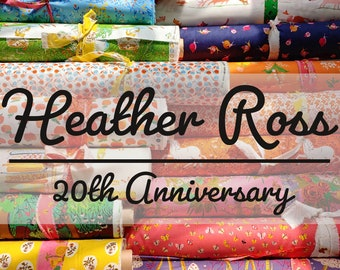 Heather Ross 20th Anniversary for Windham Fabrics - FQ or 1/2 yard Bundle - Cotton Quilt Fabric