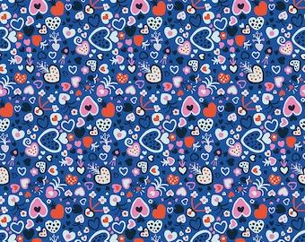 Homeward Monika Forsberg Anna Maria's Conservatory Free Spirit -Floating Love Prussian MF015 -Cotton Quilt Fabric FQ BTHY Yard 9-21