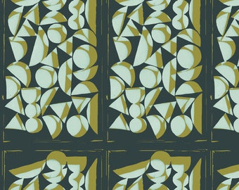 Vestige by Bookhou for Anna Maria Horner's Conservatory for Free Spirit - Shapes - Sea - 1/2 yard Cotton Quilt Fabric