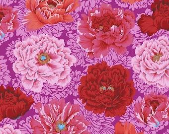 Kaffe Fassett Collective - Philip Jacobs - Brocade Peony - Hot - PWPJ062 - FQ Fat Quarter BTHY Yard -100% Cotton Quilt Fabric 1021