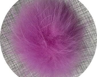 Snap on Raccoon XL Pom Pom 15 cm - Violet Purple