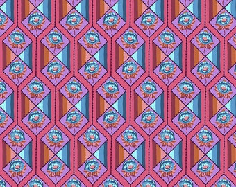 Bright Eyes by Anna Maria Horner for Free Spirit - Facets - Coral - FQ BTHY Yard - Cotton Quilt Fabric 9-21
