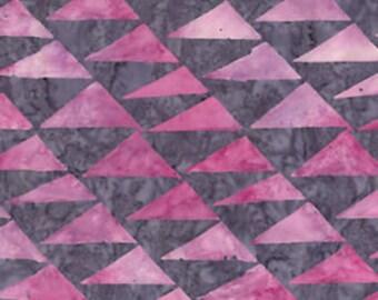 Batik Triangles Kaffe Fassett Artisan - Flags  - Pink - Cotton Quilt Fabric - 1/2 Yard 1021