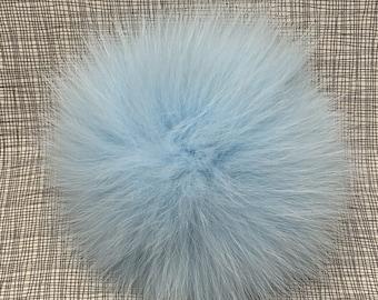 Snap on Raccoon XL Pom Pom 15 cm - Icy Blue