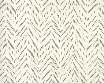 Bramble by Gingiber for Moda - Points - Cream - Black - 100% Cotton Quilt Fabric