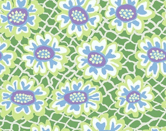 Kaffe Fassett Collective - Brandon Mably - August 2021 - Flower Net - Green - PWBM081.GREEN - Select a Size - 100% Cotton Quilt Fabric