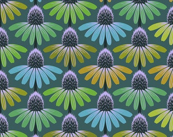 Love Always by Anna Maria Horner for Free Spirit - Echinacea Glow - Algae - PWAH149 - Select a Size - Cotton Quilt Fabric