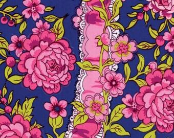 Neptune and the Mermaid by Tokyo Milk for Free Spirit - Anthemoessa - Navy - 1/2 Yard Cotton Quilt Fabric 717