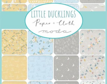 Little Ducklings by Paper and Cloth for Moda - Pre-Cuts - Mini Charm, Charm, or Layer Cake