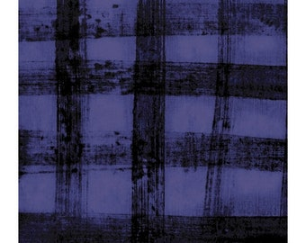 The Blue One by Marcia Derse -  PLAID  43192A 16 Blueberry Blue  - 100% Cotton Quilt Fabric FQ BTHY Yard 8-21