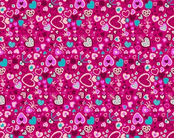 Homeward Monika Forsberg Anna Maria's Conservatory Free Spirit -Floating Love Magenta MF015 -Cotton Quilt Fabric - FQ BTHY Yard 9-21