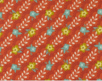 Songbook Fancy That Design House  -Sweet Marmalade Orange Flower Buds -45524 21 -Cotton Quilt Fabric- Fat Quarter fq BTHY By the half yard
