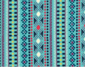 SALE Rosa by Crystal Manning for Moda - Friendship - Bermuda - Aqua Blue - Cotton Quilt Fabric - BTHY Yard K