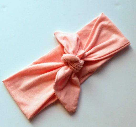 Headwrap Baby Head Wrap Bow Headwrap Peach Toddler Etsy
