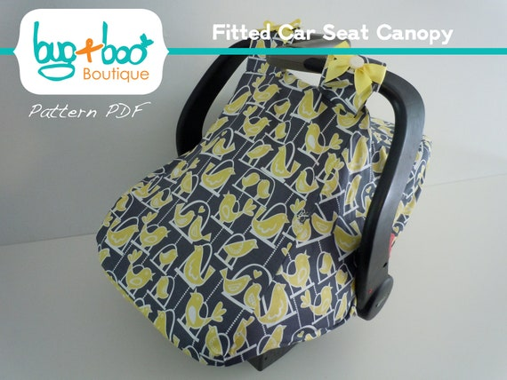 Fitted Car Seat Canopy Pdf Pattern Tutorial With Optional Etsy