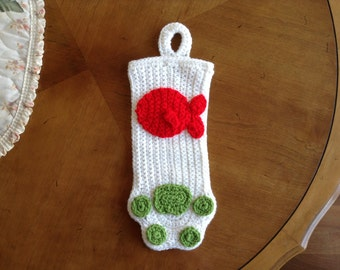 Crocheted Pet Christmas Stocking - Cat (Choose your colors!)