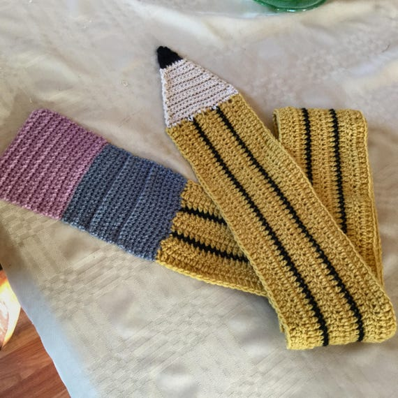 Crochet Pencil Scarf -- Great gift for teachers, students, writers!