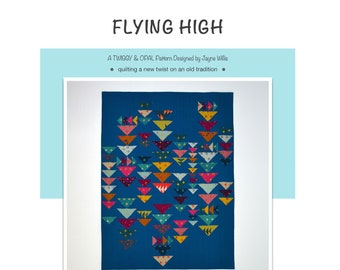 Flying High Quilt Pattern, PDF Quilt Pattern, Quilt Pattern, Flying Geese Quilt, Digital Download PDF