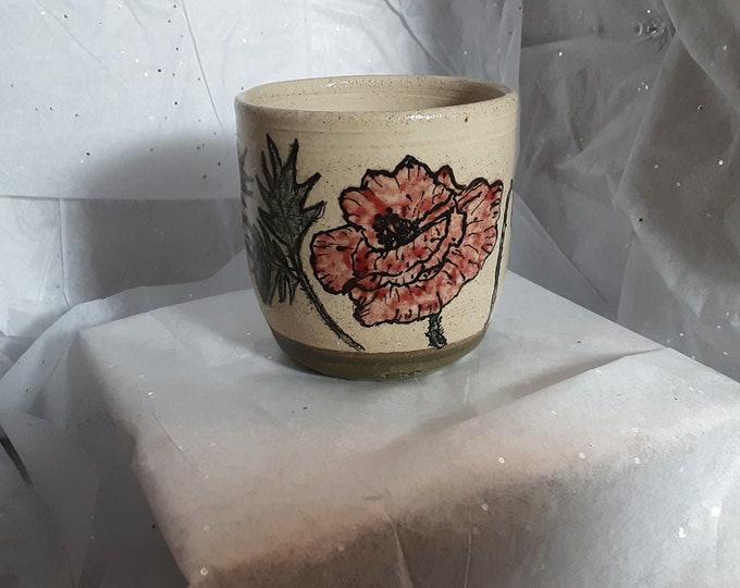 Poppy Cup, Tumbler, Tea Bowl etc. 14oz