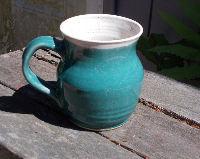 Emerald Green Mug for 1 Pint of Beer, coffee, soup, tea, ale