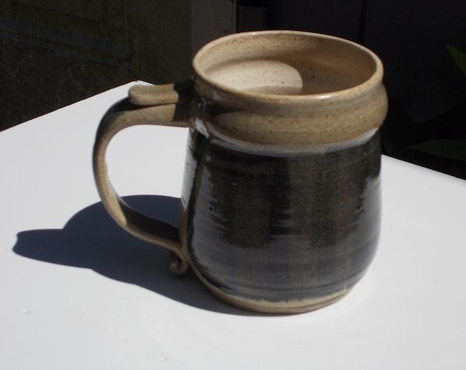 Mug, Cup, Grey, Brown, Tankard Style, 1-3/4 cups