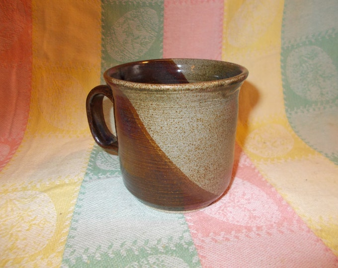 Blue-Green-Brown Coffee Cup or Mug for drinking coffee, tea, or storing pencils and paper clips