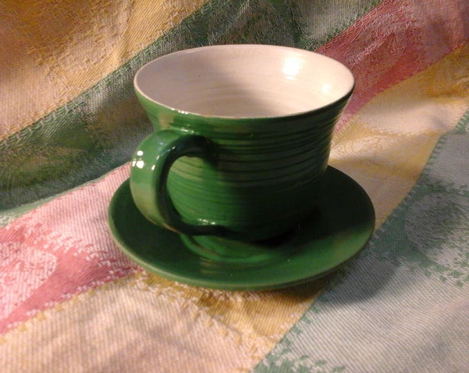 Green Tea Cup and Saucer, holds 1 cup