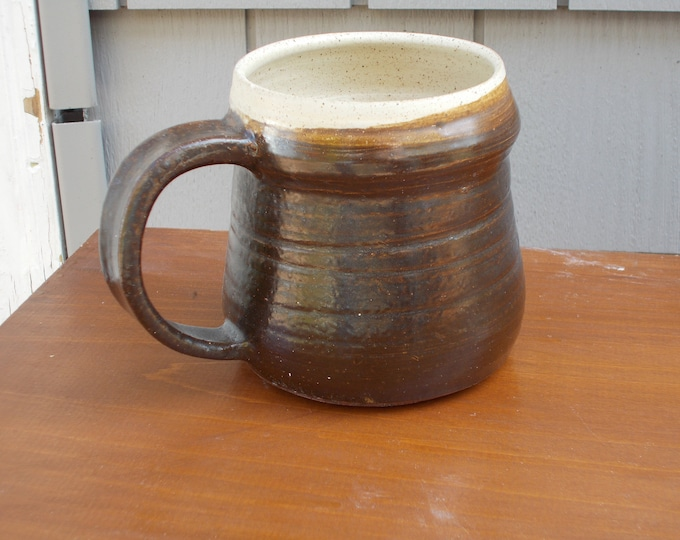 Tenmoku Brown Coffee Mug or Cup 1Pint