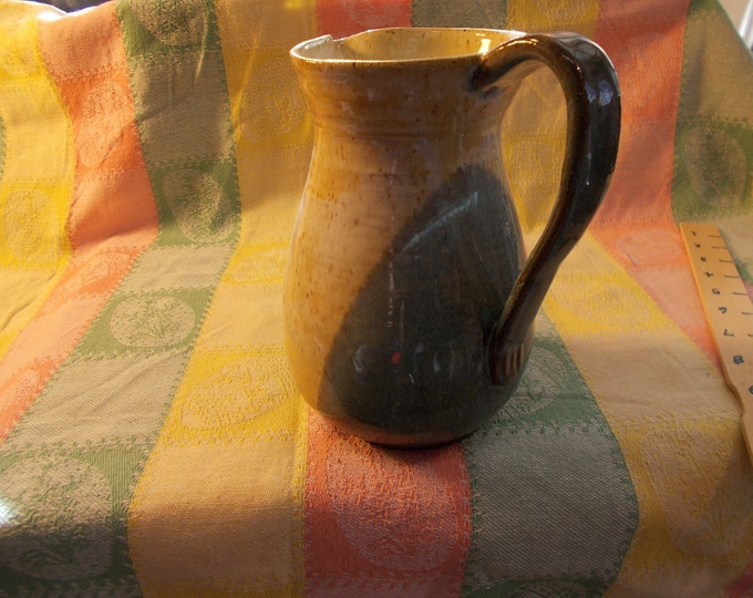 Earthy Blue and Tan Pitcher 1-1/2 qts