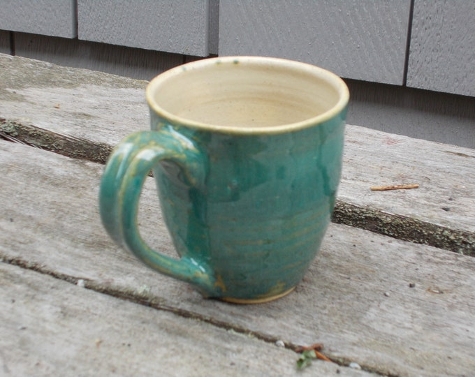 Turquoise or Green Espresso Cup, Free Shipping, 7 oz