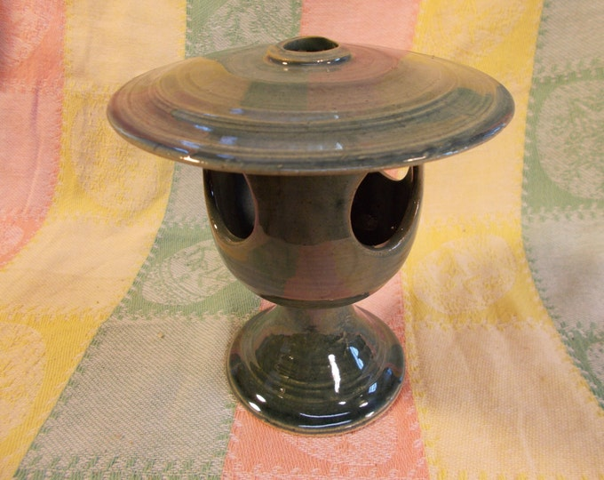 Green Celedon colored Incense Lantern Burner or chalice