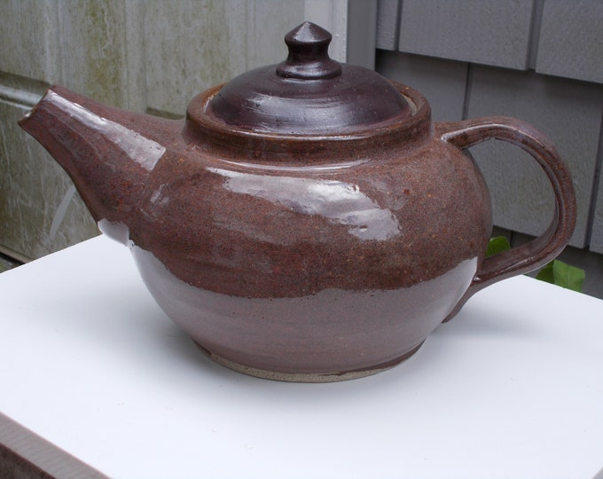 Handmade Big Brown 6+ cup Teapot