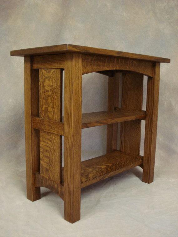 buy popular 634b4 06c24 Mission Oak Bedside Bookcase Woodruff Furniture Free Shipping