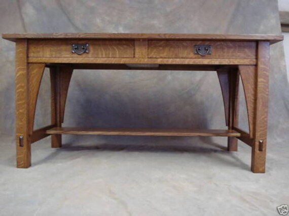 Pleasant Library Table 615 Stickley Mission Oak Arts Crafts Desk Bralicious Painted Fabric Chair Ideas Braliciousco