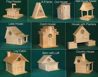 Bird house kit etsy 10 kits wood bird house kit collection solutioingenieria Gallery